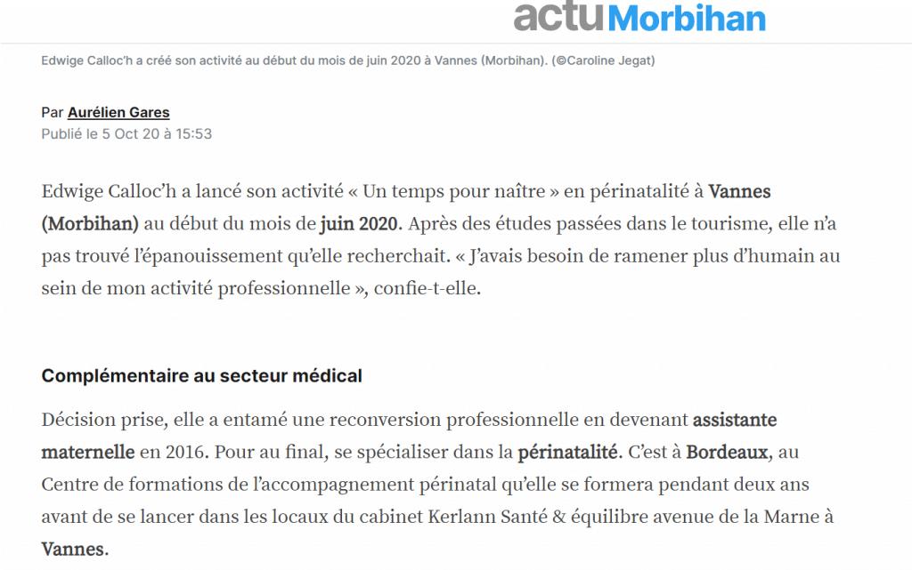 Article actu Vannes